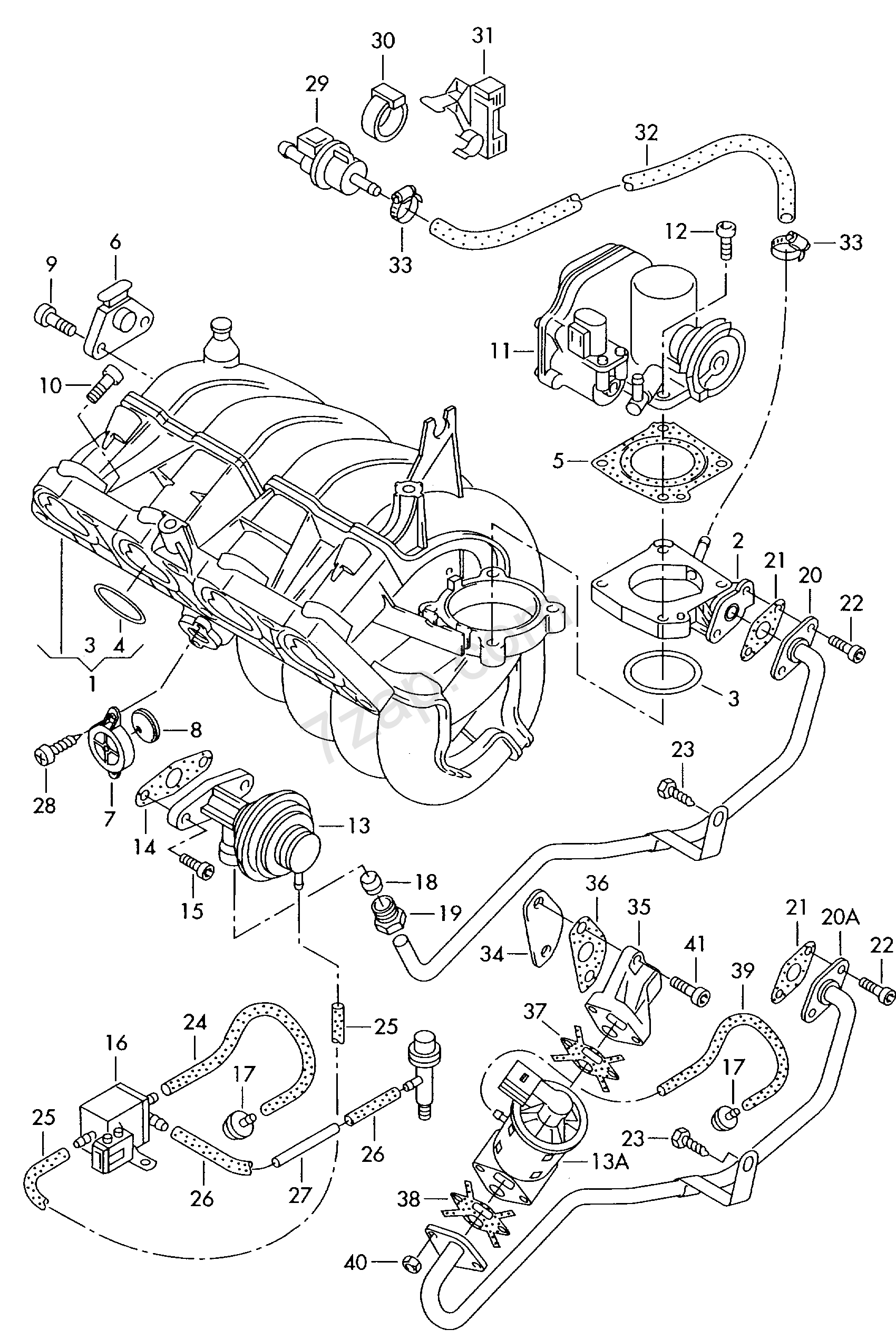 Intake System Vacuum Throttle Valve Contr Octavia Oct Skoda Engine Diagrams Octaviaoct China 2004 Year