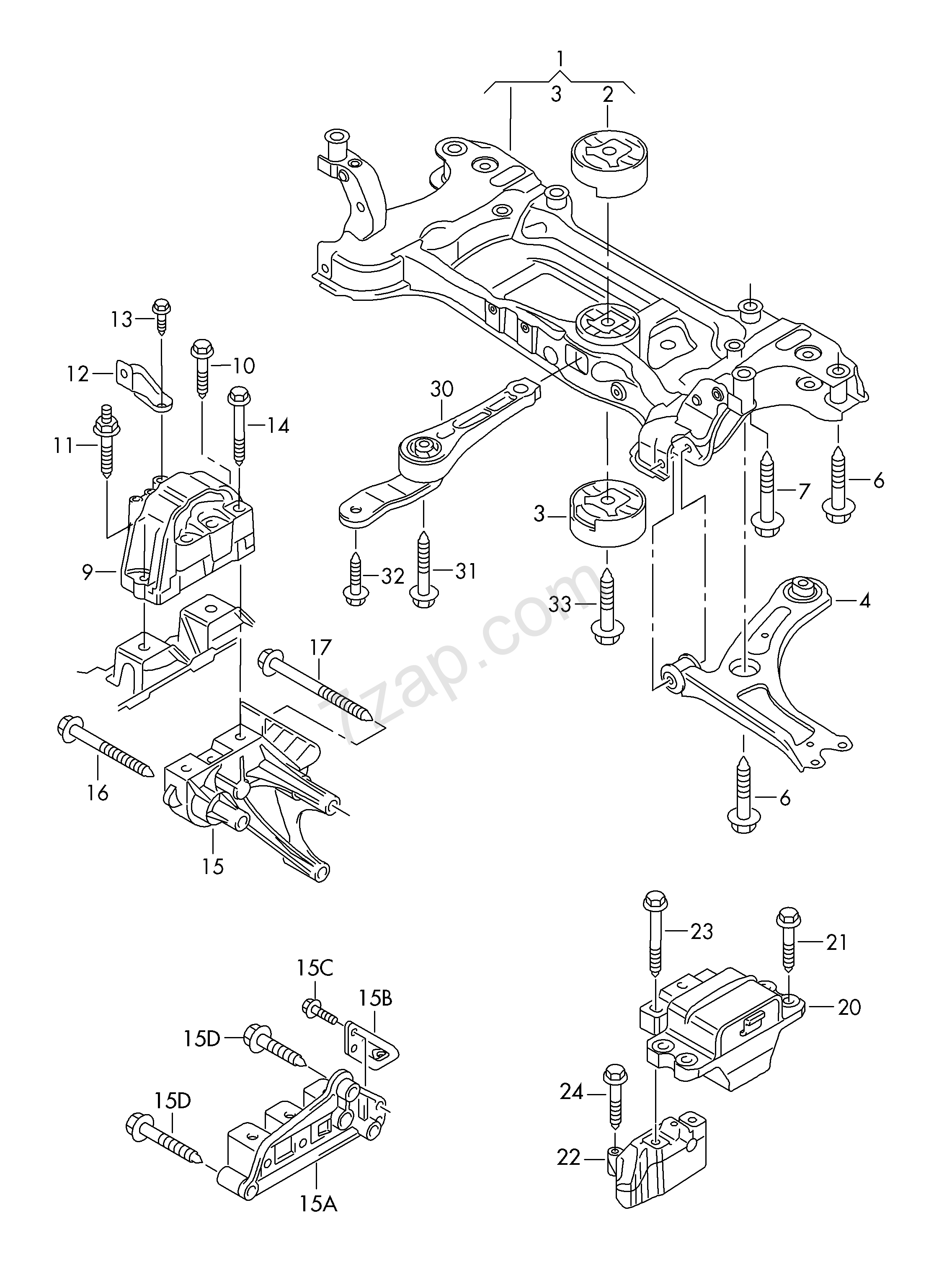 Skoda Transmission Diagrams Electrical Wiring Engine Mounting Parts For And D Octavia Oct 2011 Drive Shaft Diagram