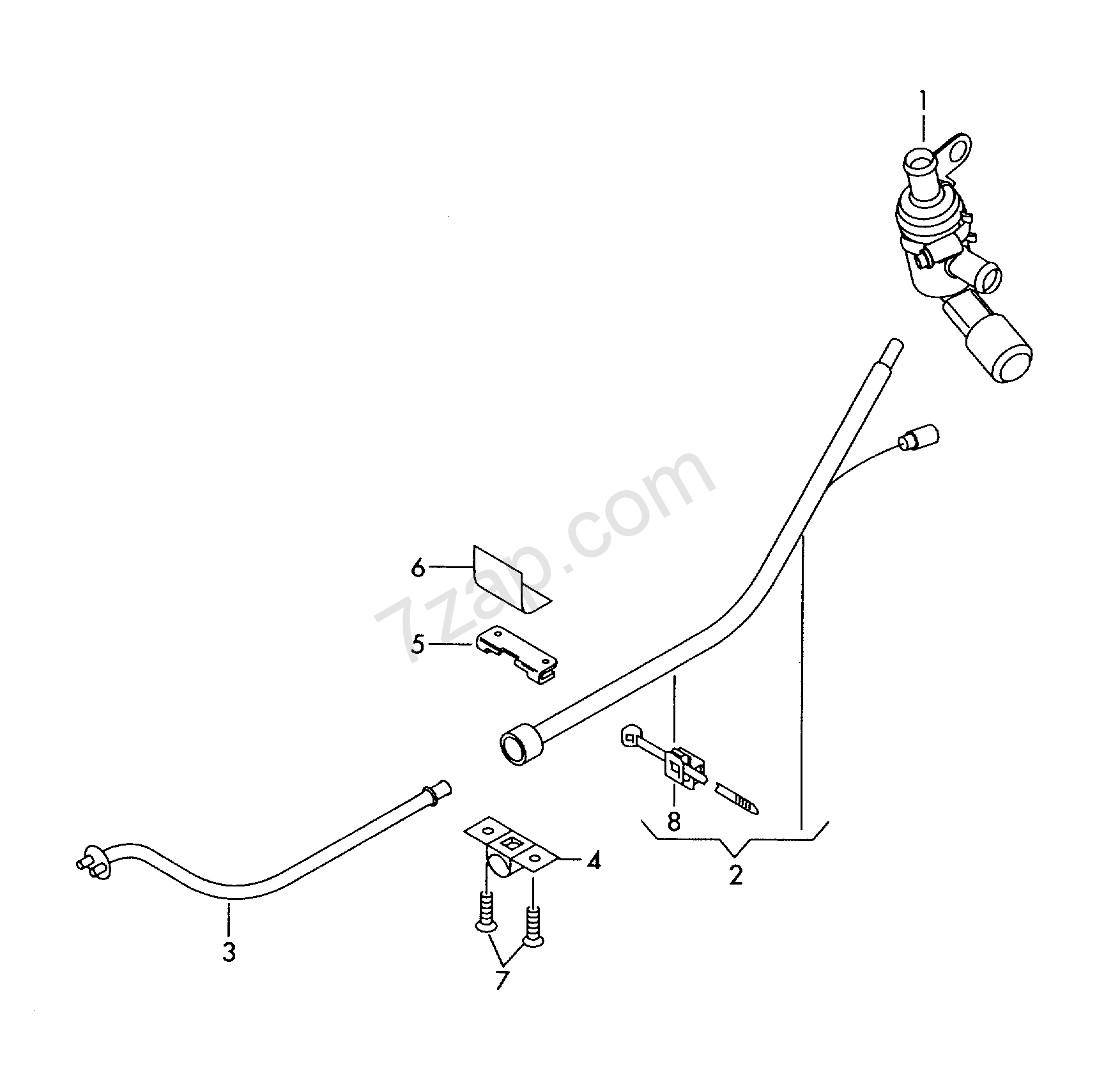 wiring harness for additional current supply octavia  oct  2008 year skoda europa 972070