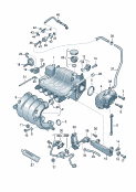 throttle valve control element<br/>vacuum system<br/>intake system<br/>exhaust gas recirculation