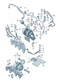 exhaust gas turbocharger<br/>exhaust manifolds