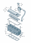 cylinder head<br/>cylinder head cover<br/>ventilation for cylinder block