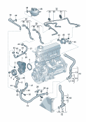 coolant pump<br/>coolant hoses and